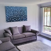 1.5m wide Whaleshark Dreaming in lounge room