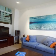 Sold out print 2m wide Infinisea in lounge room
