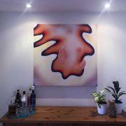 96.5cm Coi print in wall alcove
