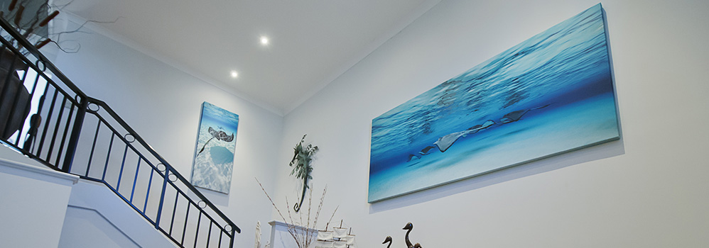 Prints in a stairway - The Ocean on Your wall